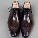 Chaussures Richelieu One Cut laçage caché patine Aubergine – ligne Castelo – réf. 3020