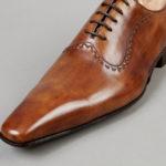 Chaussures Richelieu à Plastron – ligne Castelo – Havane réf. 3011