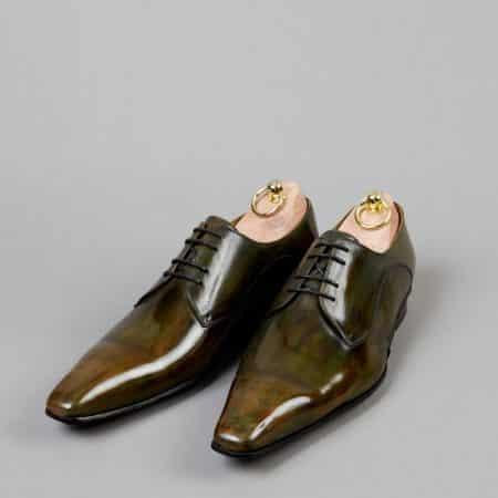 Chaussures Derby V front patine Vert Bronze – ligne Castelo – réf. 3013