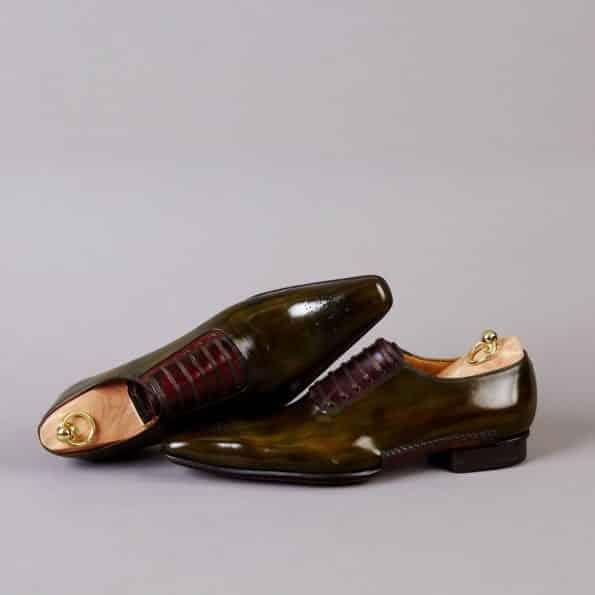 Chaussures Laçage Officier patine Feuilles mortes – ligne Castelo – réf. 3022