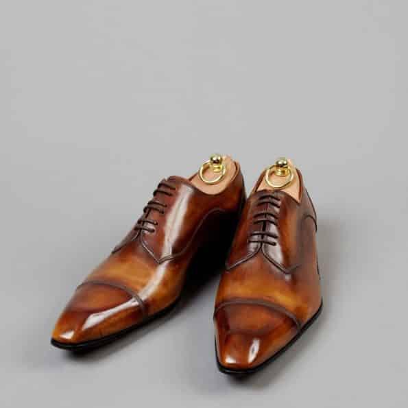 Chaussures Derby Tailleur patine Pain d'Épices – ligne Castelo – réf. 3009