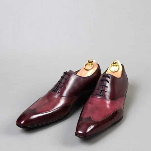 Chaussures Richelieu patine bicolore Fushia/Violet – ligne Castélo – réf. 3003
