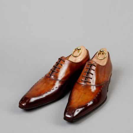 Chaussures Richelieu à surpiqûre patine Pain d'épices – ligne Castelo – réf. 3001
