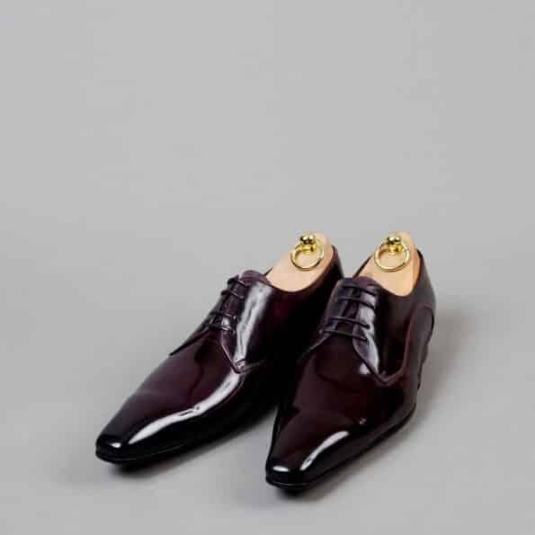 Chaussures Derby V front patine Aubergine – ligne Castelo – réf. 3013