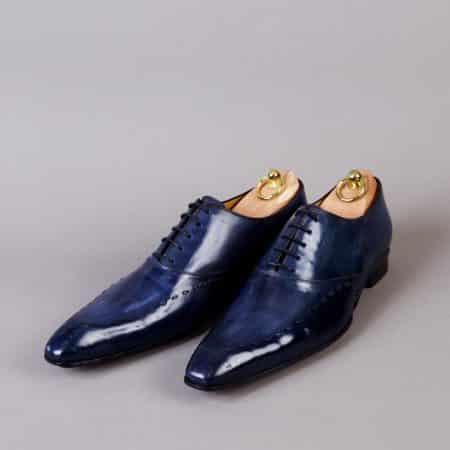 Chaussures Richelieu à surpiqûre patine Bleu Nuit – ligne Castelo – réf 3001