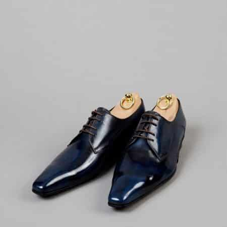 Chaussures Derby V front patine Bleu Nuit – ligne Castelo – réf. 3013