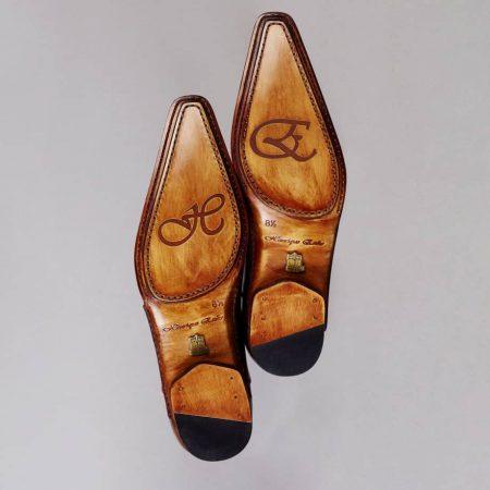 Boucles Double boucle – ligne Castelo – Marron Cognac réf. 3026