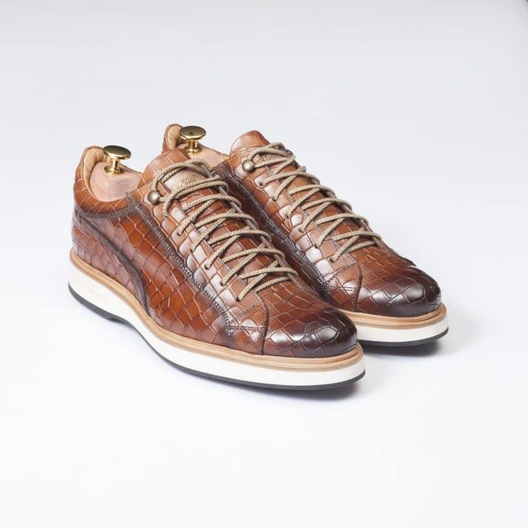 Sneakers Panamera - ligne Prestige - Whisky - réf 4127