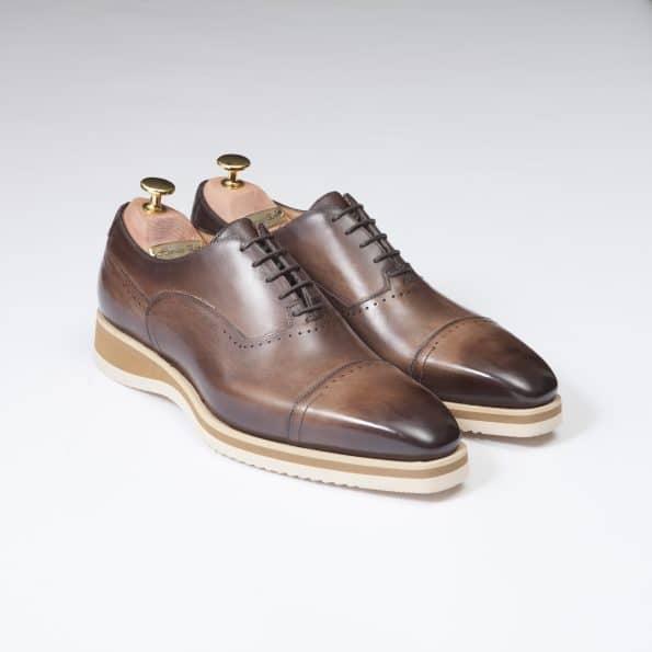 Chaussures Sneakers Venice – ligne Florence – Marron Séquoia – réf 1726