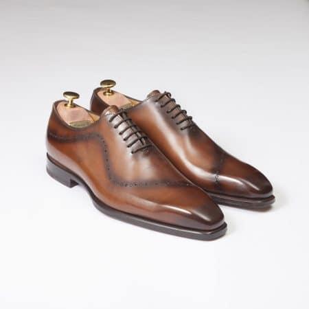 Chaussures One Cut Tokyo – ligne Prestige – Cognac dégradé – réf 4471