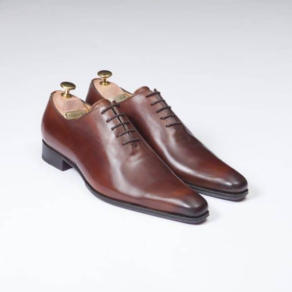 Chaussures Richelieu One Cut 5 Oeillets – ligne Dandy – Marron Cognac réf. 13283