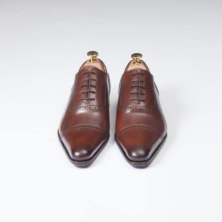 Chaussures Richelieu Balmoral – ligne Dandy – Marron Cognac réf. 13282