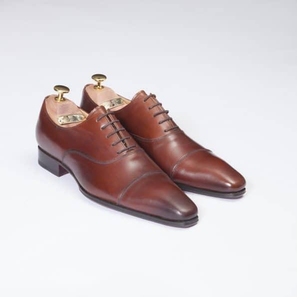 Chaussures Richelieu Diplomate – ligne Dandy – Marron Cognac réf. 11067