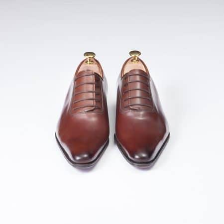 Chaussures Richelieu laçage Officier – ligne Dandy – Cognac réf. 8840