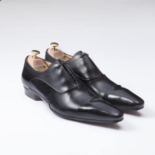 Chaussures Richelieu Diplomate Laçage caché – ligne Castelo – Noir réf. 3023