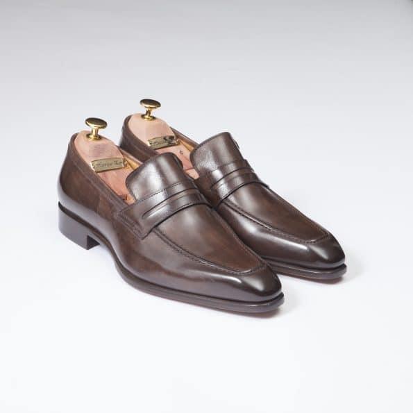 Chaussures Mocassin Monte Carlo – ligne Florence – Marron Sequoia – réf 29204