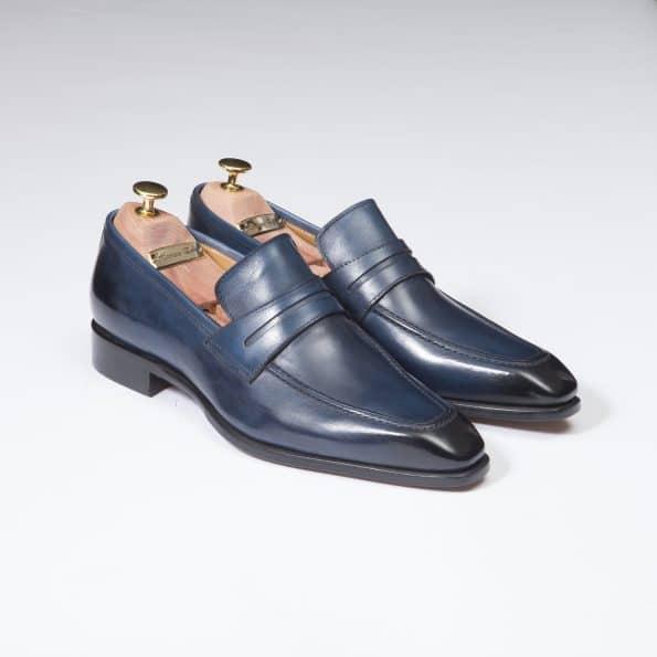 Chaussures Mocassin Monte Carlo – ligne Florence – Marine – réf 29204
