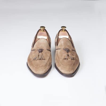 Chaussures Mocassin Palerme – ligne Prestige – velours de Kangourou Beige – réf 4216