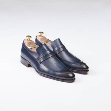 Chaussures Mocassin Venice – ligne Prestige – patine Marine réf. 9476