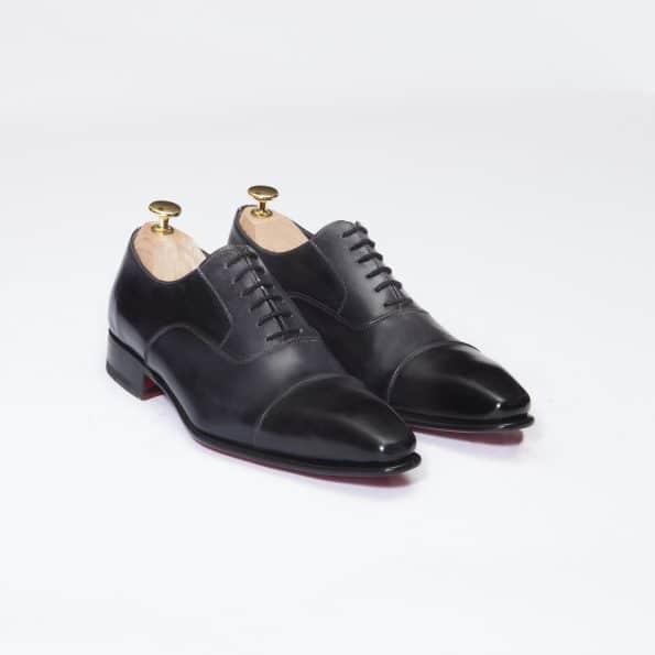 Chaussures Richelieu Diplomate – ligne Prestige – Gris foncé réf. 9071