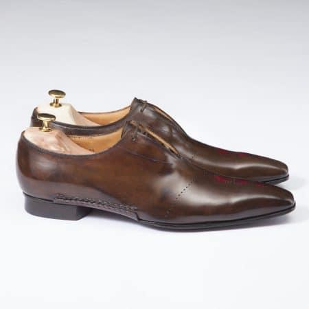 Chaussures Richelieu One Cut laçage caché patine Marron – ligne Castelo – réf. 3020