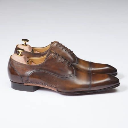 Chaussures Derby Tailleur patine dégradé Cognac – ligne Castelo – réf. 3009