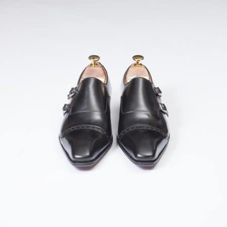 Boucles Double Boucle – ligne Dandy – Noir réf 11088