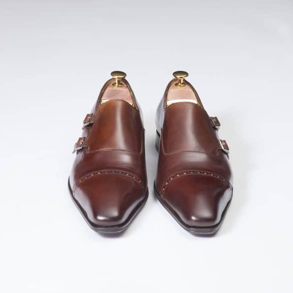 11088 double boucles ligne Dandy marron cognac