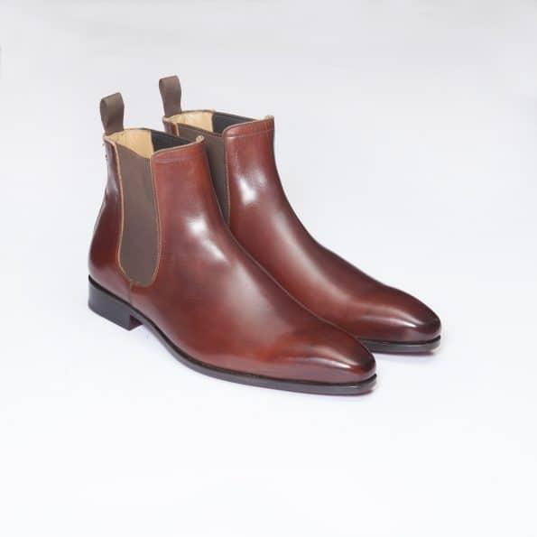 Bottines Chelsea Boots – ligne Dandy – Marron Cognac réf. 11044
