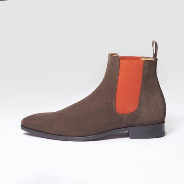 11044 Chelsea Boots ligne Dandy daim marron