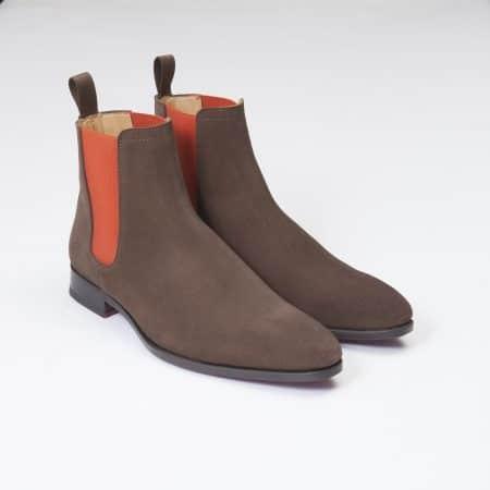 Bottines Chelsea Boots – ligne Dandy – Daim Marron réf. 11044